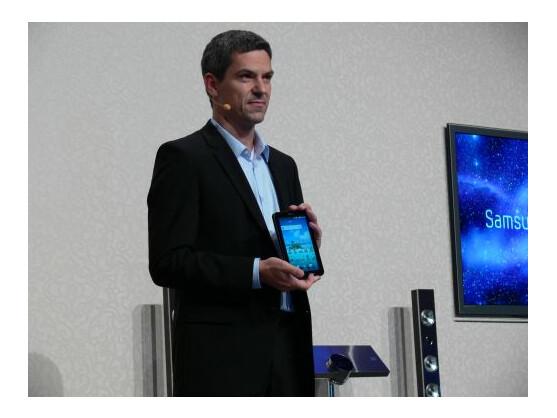 Thomas Richter von Samsung Mobile präsentierte das Galaxy Tab im Vorfeld der IFA.