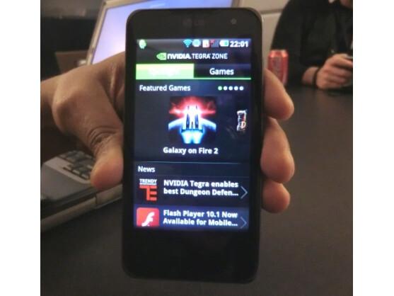 Die App Nvidia Tegra Zone auf dem LG Optimus Speed.