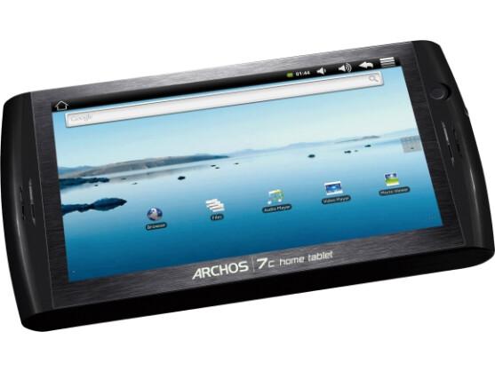 Das Archos 7c verfügt als erstes Home Tablet über einen berührungsempfindlichen Touchscreen.