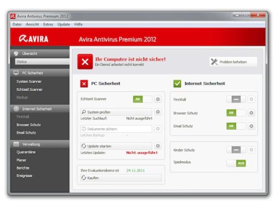 Avira hat die Oberfläche des Virenscanners überarbeitet.