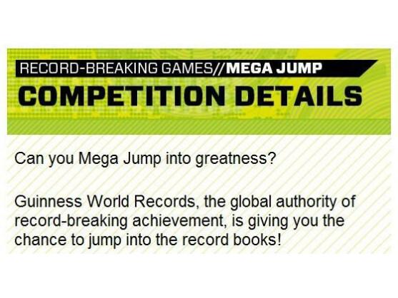 Der beste Spieler von Mega Jump kommt ins Guinness-Buch der Rekorde.