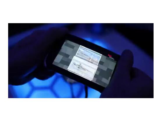 Auf Biegen und Brechen: Dieses Nokia-Handy steuert der Nutzer durch Biegen.