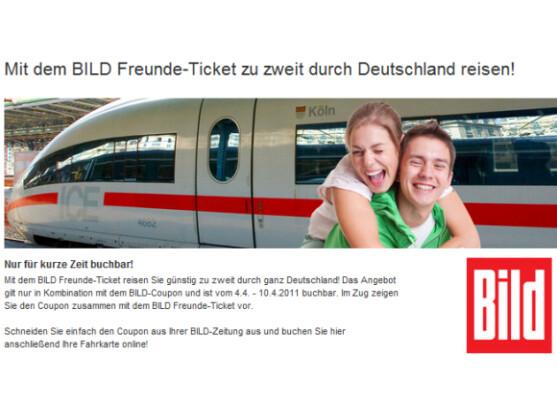 Mit dem Bild Freunde-Ticket können zwei Personen für 44 Euro fahren.