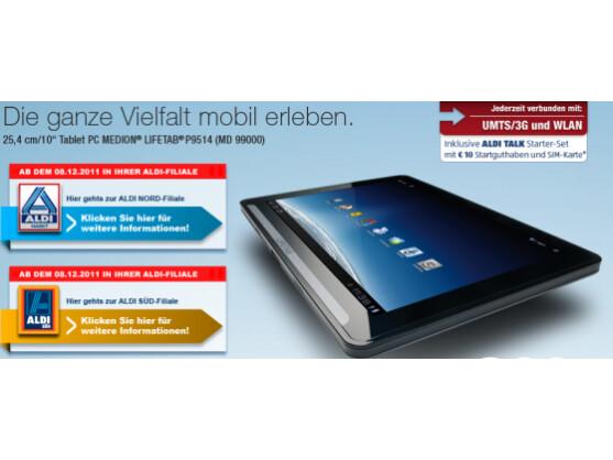 Das erste Tablet von Medion steht ab sofort in den Regalen bei Aldi.