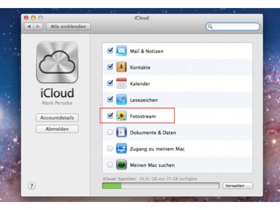 Fotostream synchronisiert Ihre Fotos zwischen allen iOS-Geräten sowie Macs und PCs.