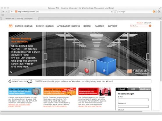 Genotec bietet Dutzende Pakete, vom Shared Hosting bis zum dedizierten Server.