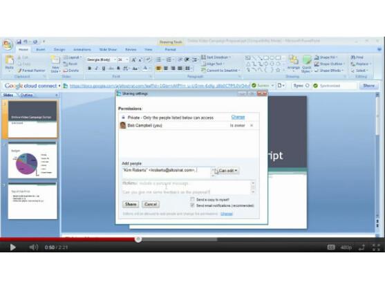 Google Cloud Connect bindet Google Docs direkt in Microsoft Office ein.
