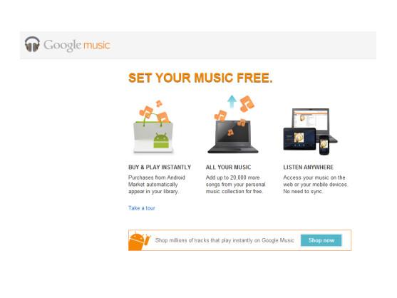 Google Music verlässt die Beta-Phase und bietet nun auch einen MP3-Shop.