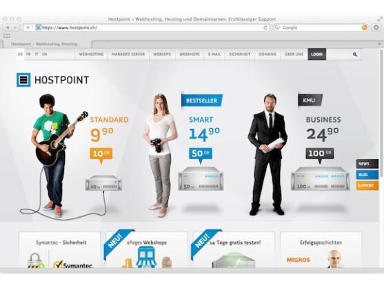 Hostpoint bietet viel Leistung zu günstigen Preisen.