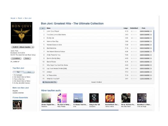 Jon Bon Jovi mag iTunes nicht. Die Musik seiner Band gibt es dort trotzdem zu kaufen.