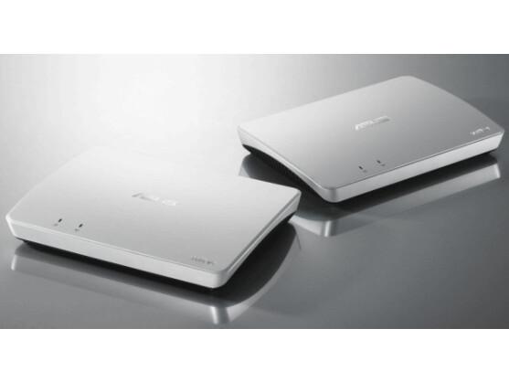 Die Kommunikation zwischen TV-Gerät und PC erfolgt über zwei Wavi-Gateways.