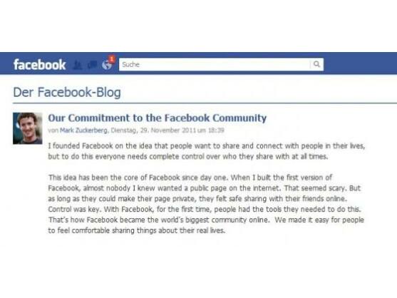 Mark Zuckerberg äußerte sich in einem Blogeintrag zu der Einigung mit der FTC.