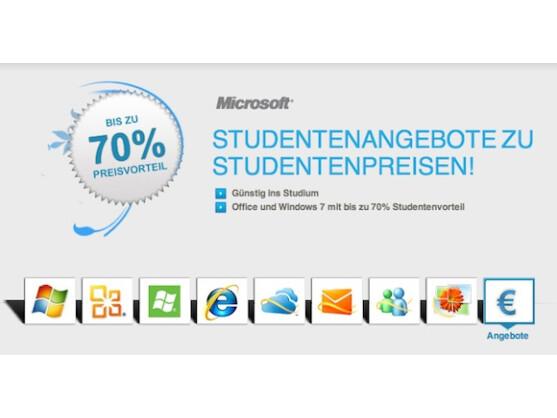 Microsoft bietet Studenten Rabatte von bis zu 70 Prozent.