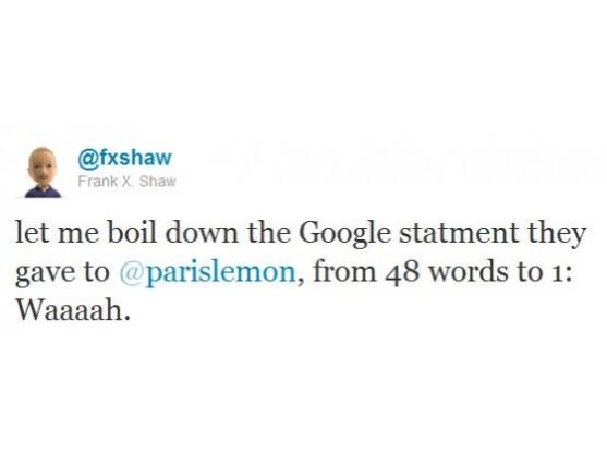 Ein Microsoft-Sprecher reagiert mit einem Tweet auf die Vorwürfe von Google.