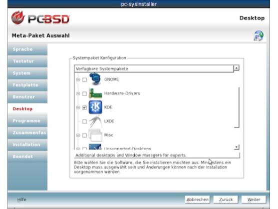 Das neue PC-BSD unterstützt nun auch mehrere Desktop-Umgebungen parallel.