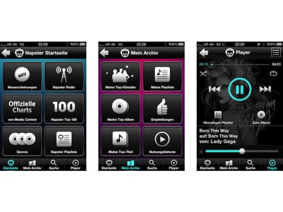 Das Online-Musikangebot Napster versucht, mit Apps neue Kunden zu ködern.