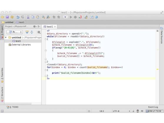 PhpStorm ist perfekt für dynamische Webseiten geeignet.
