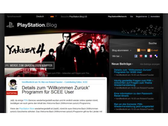 """Im Playstation Blog erläutert Sony Details zum """"Willkommen zurück""""-Programm."""