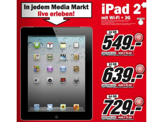 die preise von media markt f r das ipad 2 liegen unter. Black Bedroom Furniture Sets. Home Design Ideas