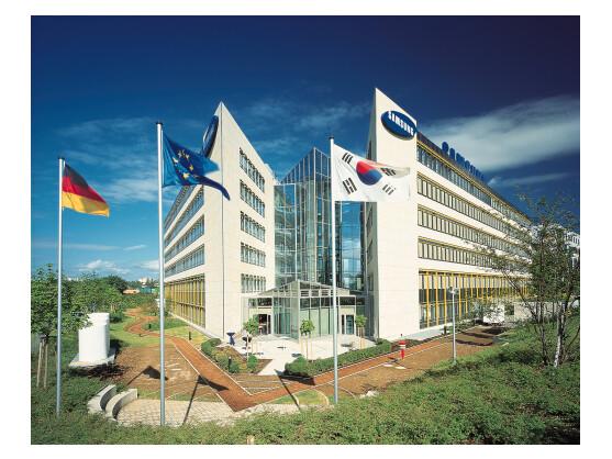 Samsung will in Südkorea nicht gegen Apple klagen. In Deutschland gehen die Rechtsstreitigkeiten aber weiter. Im Bild: Die deutsche Samsung-Niederlassung in Schwalbach.