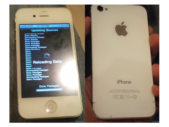 So könnte das Billig-iPhone aussehen: Ein Apple iPhone mit Plasikgehäuse