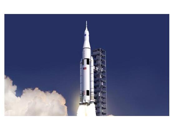 So soll die neue Trägerrakete der NASA aussehen, die Astronauten ins ferne Weltall befördern soll.