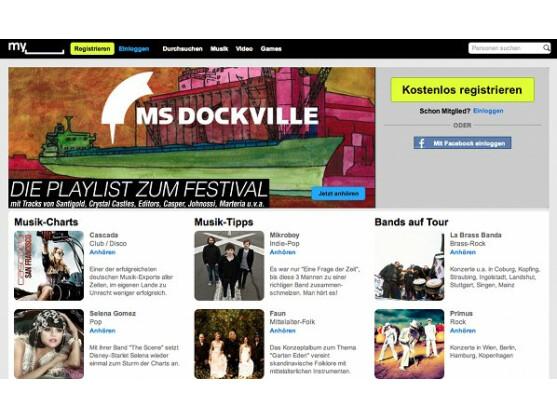 So präsentiert sich aktuelle die deutsche MySpace-Seite - aber wie lange noch?