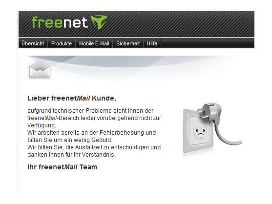 sch ne bescherung freenet mail dienst versagt zu weihnachten netzwelt. Black Bedroom Furniture Sets. Home Design Ideas