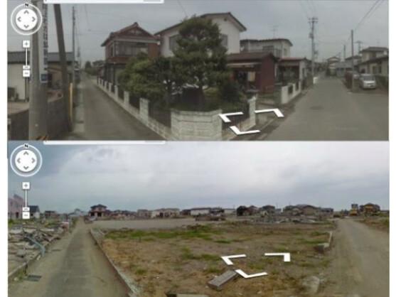 In Street View können nun Bilder vor und nach der Katastrophe in Japan vom 11. März dieses Jahres betrachtet werden.