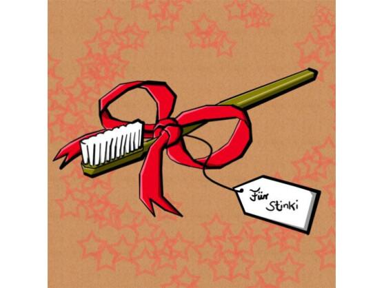 Auch das Thema Mundhygiene passt nicht zu Weihnachten. Sicher hat eine elektrische Zahnbürste mit Munddusche ihre Vorteile und einen medizinischen Zweck. Als Weihnachtsgeschenk taugt sie jedoch nicht!