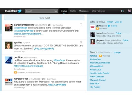 """Twitter weitet die Werbung in Form der """"Promoted Tweets"""" weiter aus."""