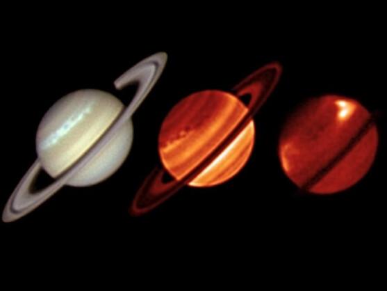 In unterschiedlichen Lichtspektren wurde der nördliche Sturm fotografiert.