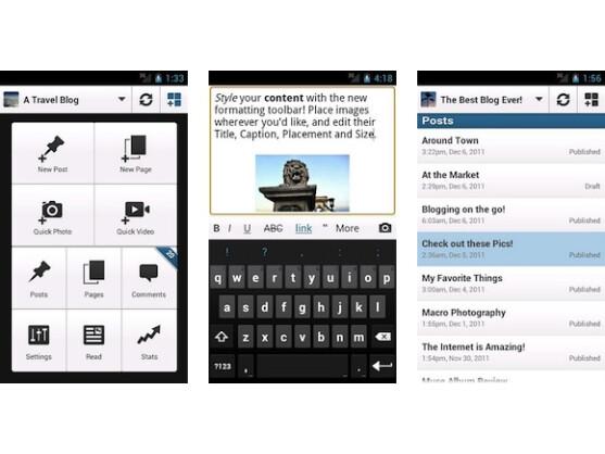 WordPress für Android funktioniert auch auf Tablets reibungslos.