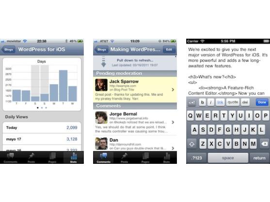 Die WordPress-App ist natürlich auch für Apple iOS erhältlich.