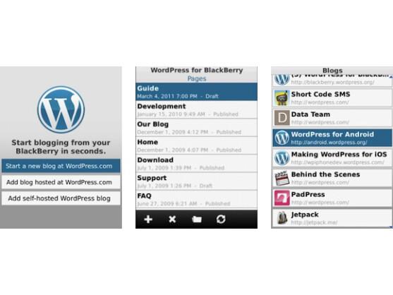 WordPress läuft auf BlackBerry OS 4.6 oder neuer.
