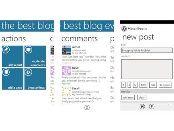 WordPress für Windows Phone ist eine der besten Blogging-Apps.