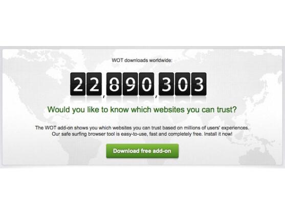 Das WOT-Plugin verzeichnet bereits über 22 Millionen Downloads.