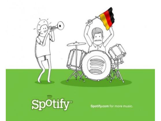 Am 13. März startet Spotify auch in Deutschland, dem 13. Land.