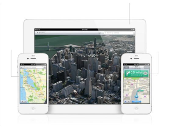 3D-Ansichten und Navigation: die neue Karten-App von Apple.