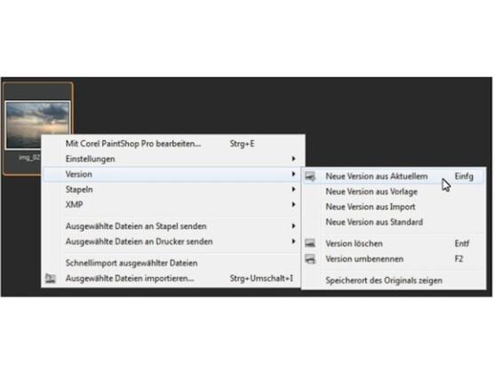 AfterShot beinhaltet eine leistungsfähige Versionsverwaltung.