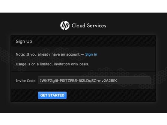 Die Anmeldung für die Cloud Services muss von HP genehmigt werden.