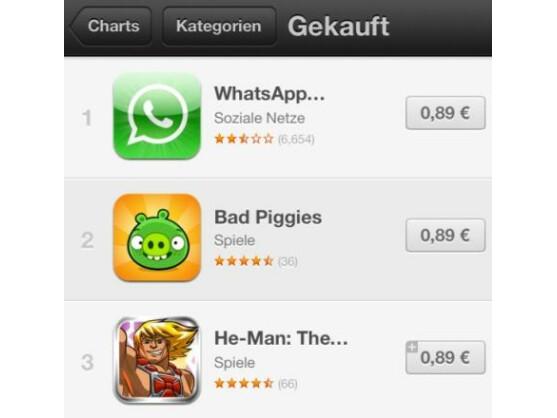 Apple hat die Preise für Apps im App Store erhöht. Die günstigsten Programme kosten nun 89 Cent.