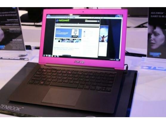 Asus Zenbook in Pink