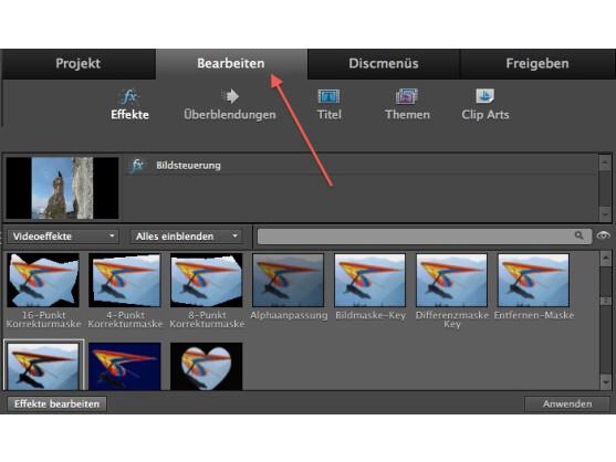 Die Auswahl an Video-Effekten und Audio-Werkzeugen ist in Premiere Elerments sehr groß.