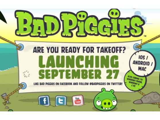Bad Piggies heißt der neue Ableger von Angry Birds.