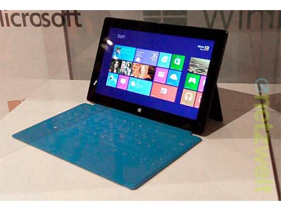 Zum Beispiel auf einem Surface-Modell von Microsoft kommt Windows RT zum Einsatz.