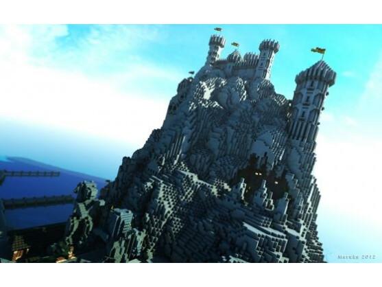Casterly Rock in Minecraft