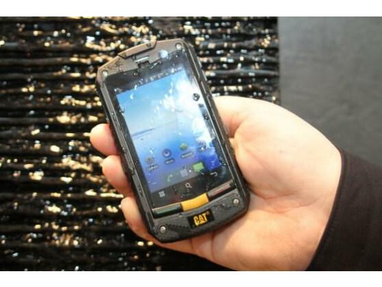 Das CAT B10 ist ein robustes Smartphone, das auf der CeBIT präsentiert wurde.