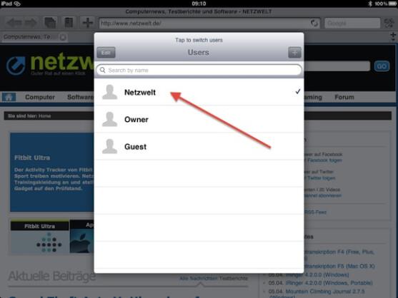 Conquestor ist ein Browser, der ab Werk mehrere Benutzerprofile unterstützt.