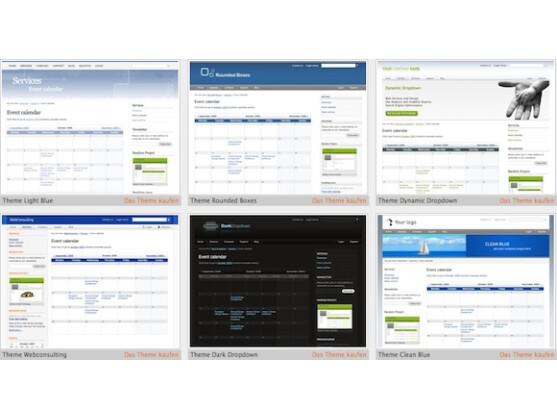 Für Contao gibt es zahlreiche kostenlose Themen im Web.